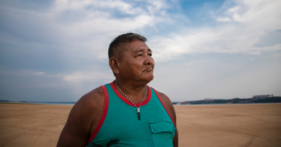 Thiago Munduruku, na aldeia Praia do Mangue, no Pará