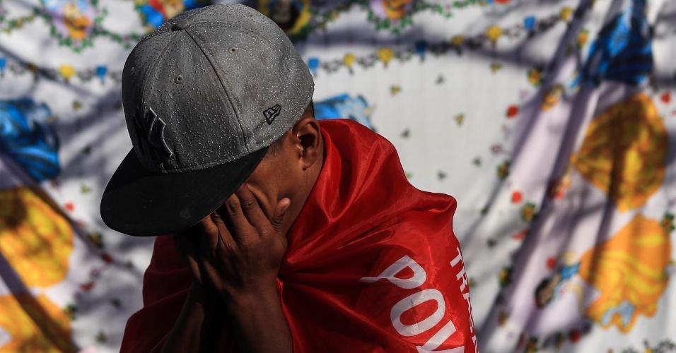 6.abr.2018 - Apoiadores do ex-presidente Luiz Inácio Lula da Silva realizam ato em frente ao prédio do Sindicato dos Metalúrgicos do ABC, em São Bernardo do Campo (SP)