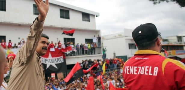 Nicolás Maduro, candidato à reeleição na Venezuela, durante sua campanha