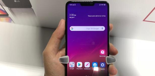 G7 é o novo celular top de linha da LG que chega ao Brasil - Gabriel Francisco Ribeiro/UOL