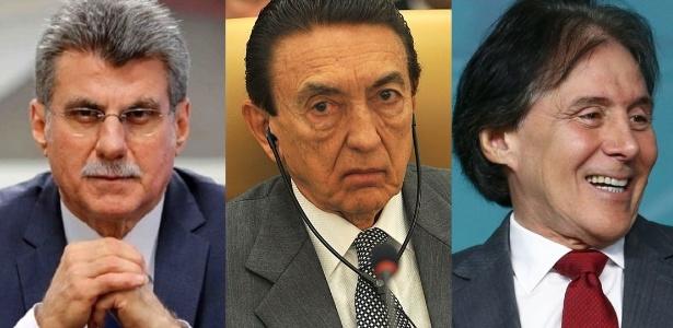 Caciques do MDB: Romero Jucá, Edison Lobão e Eunício Oliveira