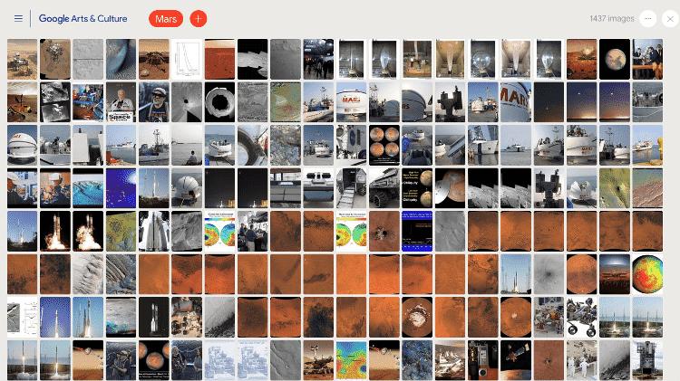 Aprendizado de máquina organiza as 127 milhões de imagens da Nasa - Nasa/Google Arts & Culture/Divulgação
