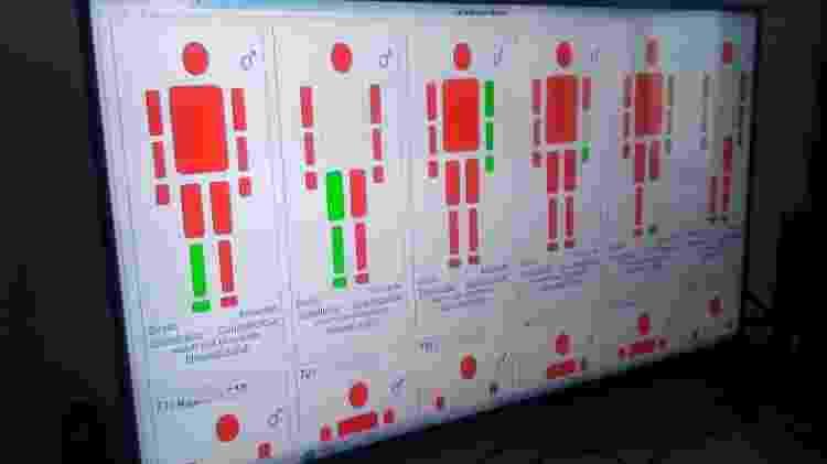 Software desenvolvido pela Polícia Civil-MG para auxiliar no reconhecimento de casos das vítimas de Brumadinho - Divulgação PCMG