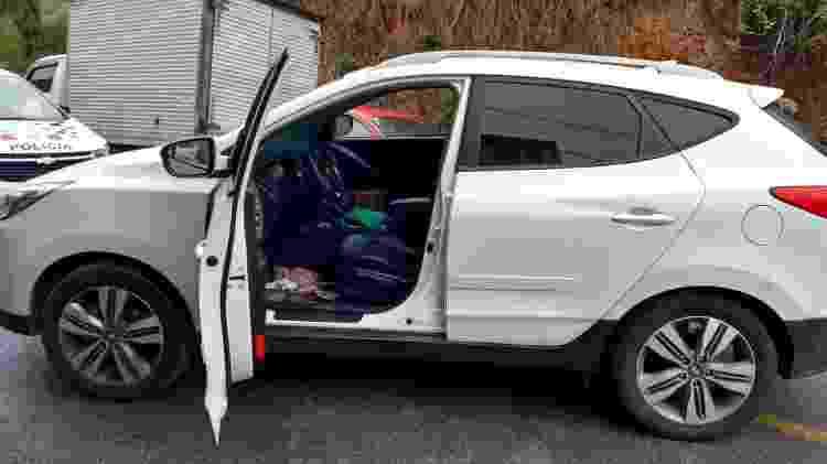 Hyundai roubado apreendido com Cristiano Alleson Arruda da Silva, que trabalhou como falso policial - Divulgação/PM-SP