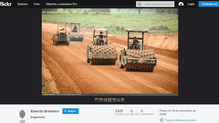16.dez.2019 - Post da foto original no Flickr do Exército - Divulgação/Exército Brasileiro