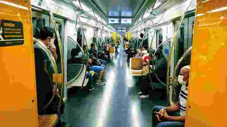 Vagões vazios da linha 4-Amarela - Cleber Souza/UOL - Cleber Souza/UOL