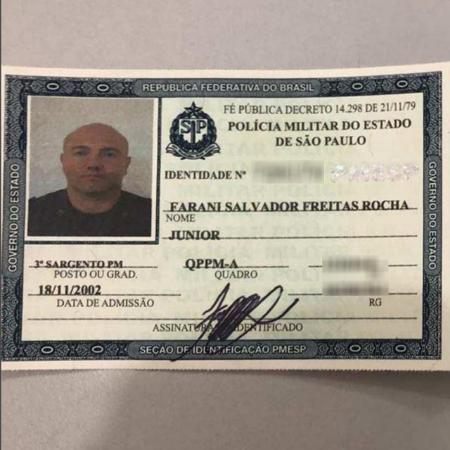 Policial militar Farani Salvador Freitas Rocha Júnior, suspeito de prestar serviços ao PCC - UOL
