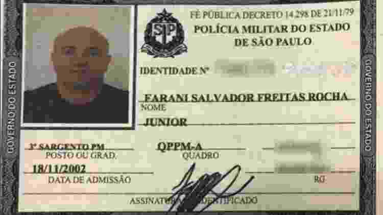 Policial militar Farani Salvador Freitas Rocha Júnior, suspeito de prestar serviços ao PCC - UOL - UOL