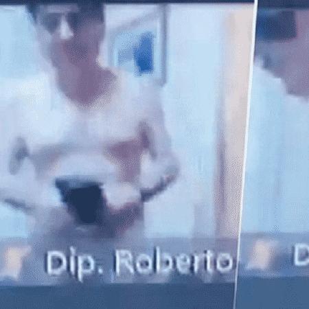 Deputado do Paraguai é flagrado sem roupa em reunião virtual - Reprodução