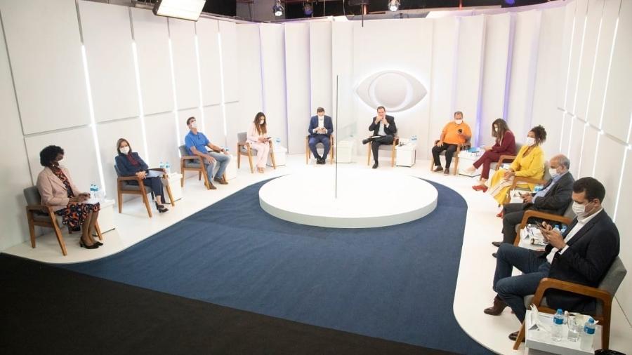 Debate dos candidatos à Prefeitura do Rio de Janeiro no último dia 01 de outubro - Divulgação: Paulo Belote / Band