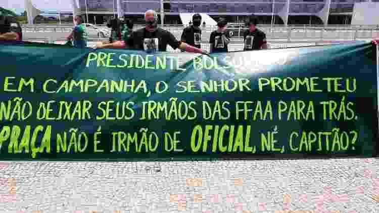 Protesto de militares da reserva contra Bolsonaro - Divulgação - Divulgação