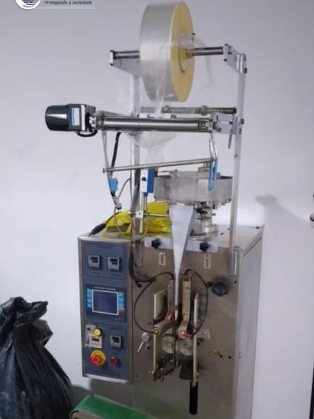27.mar.2021 - Máquina de refinaria de cocaína apreendida pela PM em casa da favela de Paraisópolis, zona sul de SP - Divulgação/PM
