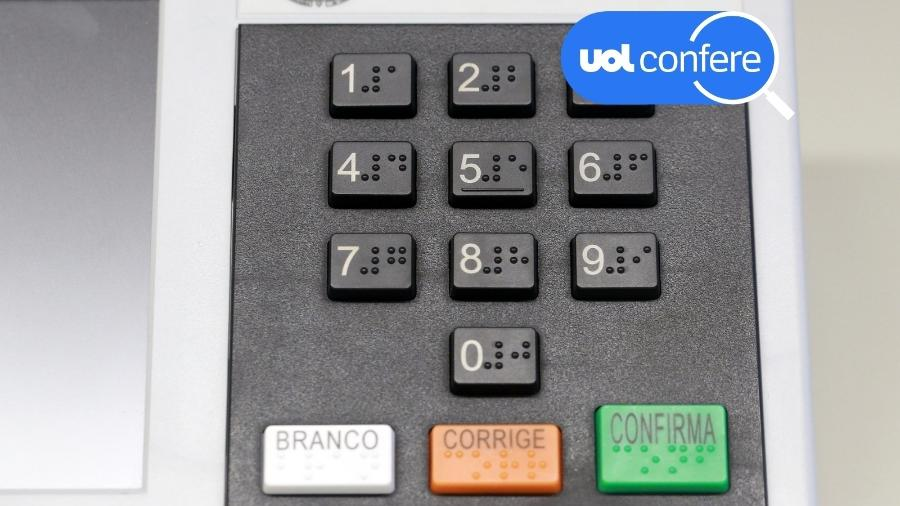 Detalhe do teclado da urna eletrônica - Antonio Augusto/Secom/TSE