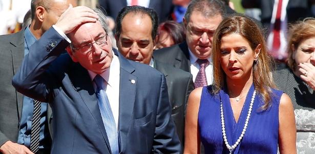 Eduardo Cunha e a mulher Cláudia Cruz, em Brasília