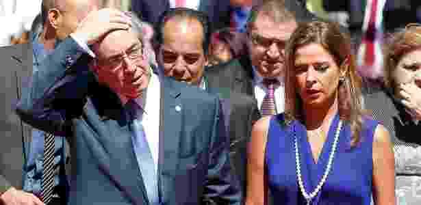 Eduardo Cunha e a mulher Cláudia Cruz, em Brasília, em novembro de 2015 - Pedro Ladeira-5.nov.2015/Folhapress