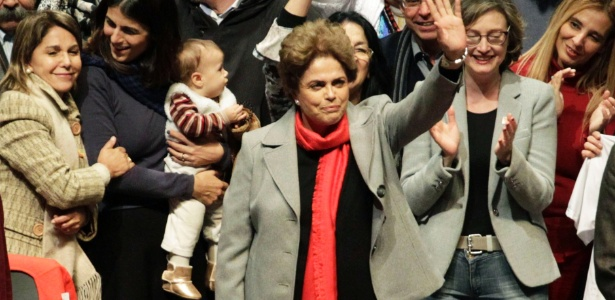 A presidente afastada Dilma Rousseff participou de ato em Porto Alegre na sexta-feira (3)
