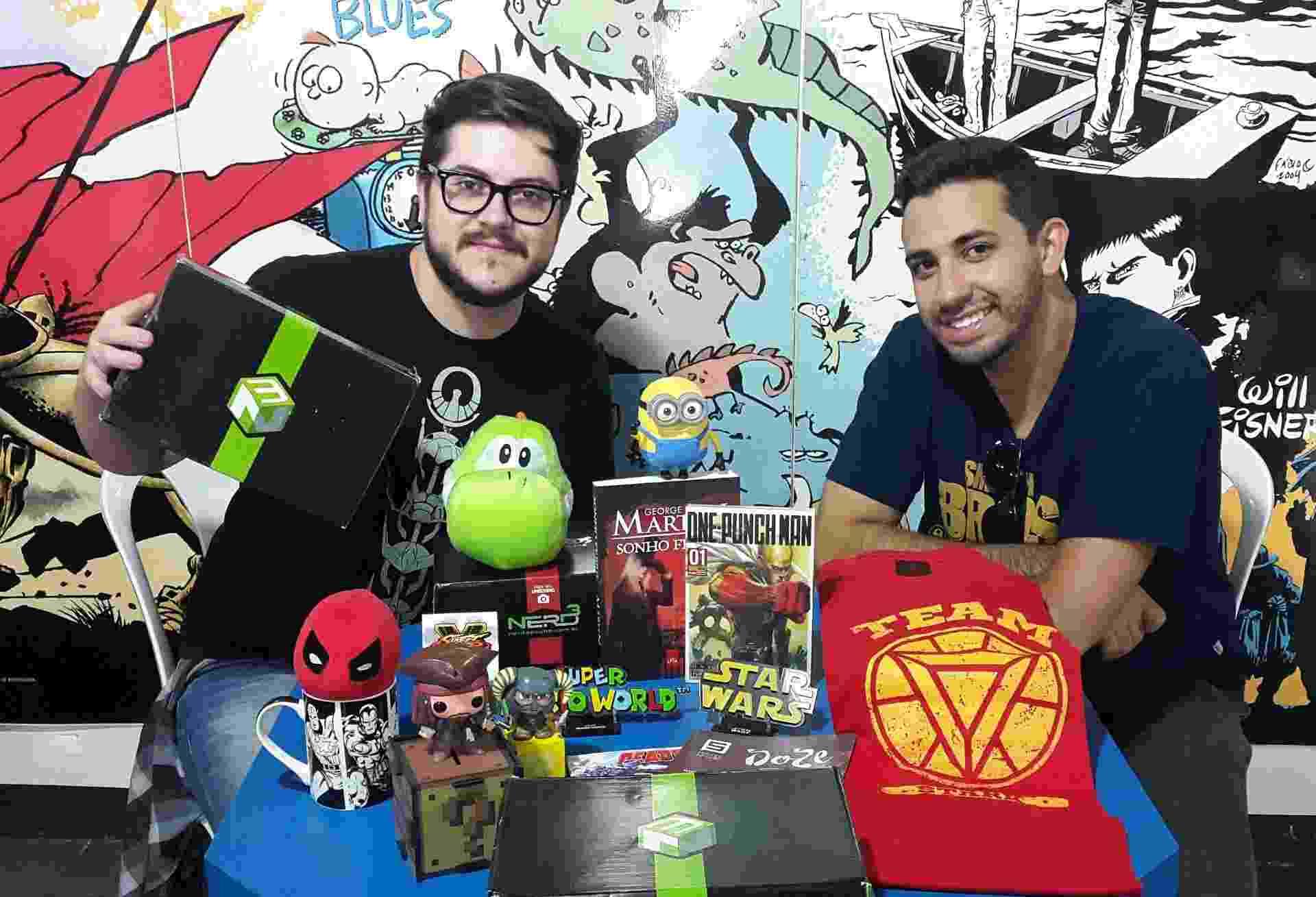 Os empresários Diogo Santos e Raul Calheha (foto) do site Nerd ao Cubo - Divulgação