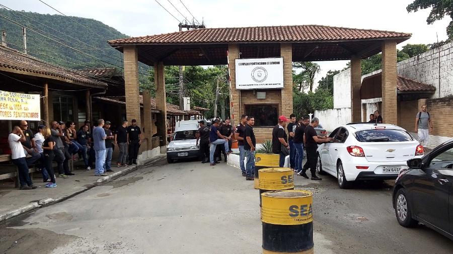 Entrada do Complexo de Gericinó, em Bangu, zona oeste do Rio - Rodrigo Menezes/Futura Press/Estadão Conteúdo
