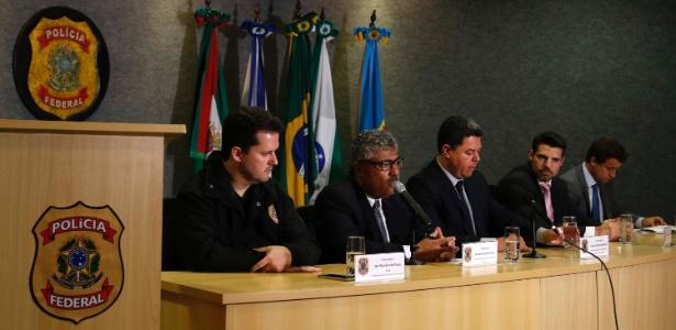 23.fev.2017 - Coletiva sobre a 38ª fase da Operação Lava Jato na sede da Polícia Federal em Curitiba (PR)