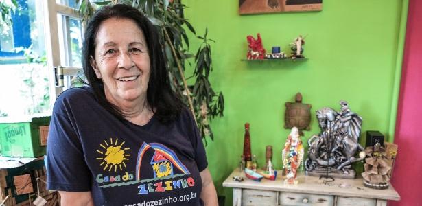 7.mar.2017 - Tia Dag, fundadora da Casa do Zezinho, no Capão Redondo (São Paulo)