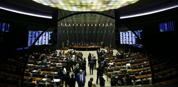 2.ago.2017 - Vista do plenário da Câmara dos Deputados, em Brasília.