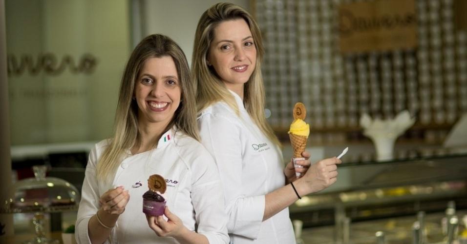 As irmãs Débora Tesoto e Suelen Ferrari são donas da Davvero Gelato, em São Paulo