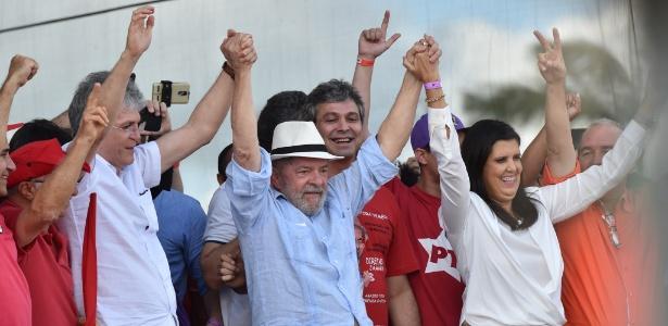 27.ago.2017 - Ex-presidente Lula em caravana na Paraíba - JOSEMAR GONÇALVES/TRIPÉ FOTOGRAFIA/ESTADÃO CONTEÚDO