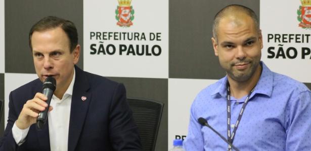 O prefeito de São Paulo, João Doria, e o vice-prefeito Bruno Covas