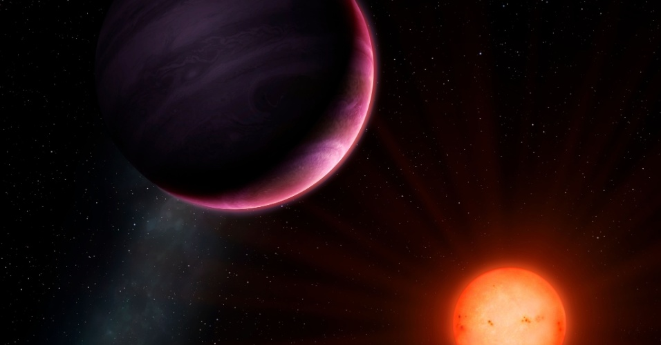 PLANETA 'MONSTRO' ORBITANDO ESTRELA ANÃ - Um planeta gigante, que de acordo com a teoria de formação dos planetas não deveria existir, foi descoberto orbitando uma fraca estrela anã muito distante. A existência do gigante gasoso desafia as teorias de longa data de que um planeta tão grande - mais ou menos do tamanho de Júpiter - não pode ser formado em torno de uma estrela tão pequena