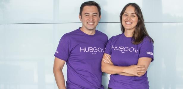 André Tamura e Gabriela Tamura são sócios-diretores da empresa WeGov