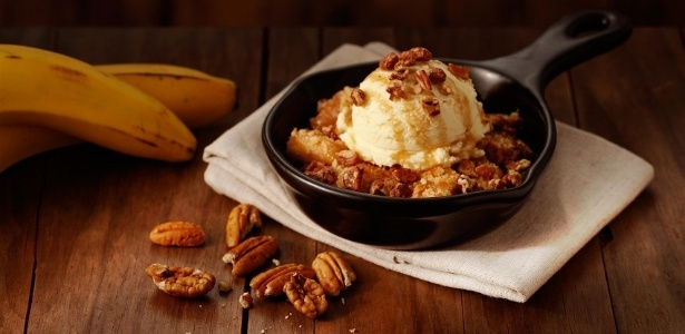 A sobremesa Banana Cobbler, do Outback
