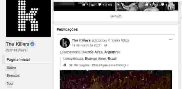 Erro no Facebook diz que Buenos Aires fica no Brasil - Reprodução
