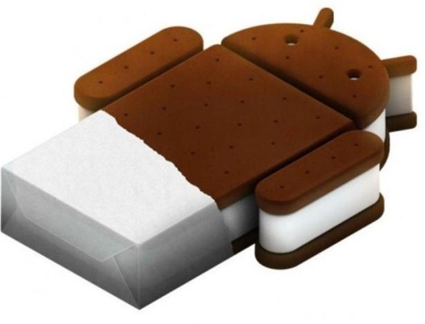 Logo do Android 4.0 ao 4.0.4 (Ice Cream Sandwich), lançado em 18 de outubro de 2011