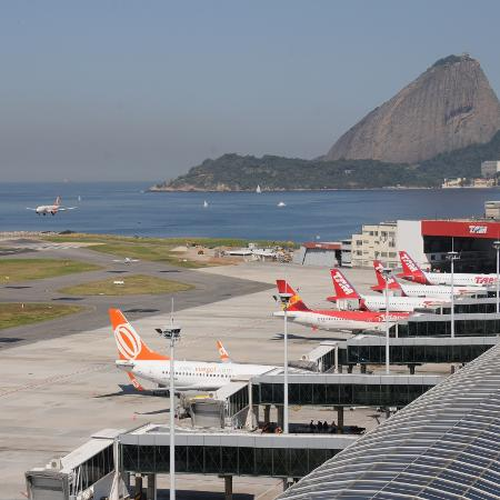 O aeroporto Santos Dumont é um dos mais movimentados do país - Divulgação/Infraero