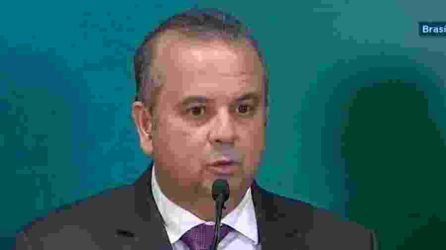 20.02.2019 - O secretário especial de Previdência e Trabalho, Rogério Marinho, durante entrevista coletiva - TV NBR