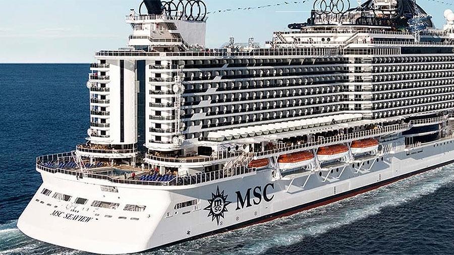 MSC Seaview usado em cruzeiro que teve possível surto de sarampo - Divulgação/MSC Cruzeiros