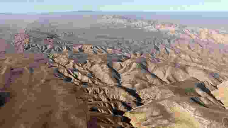 A rachadura de San Andreas atravessa a Califórnia e se estende por 1.300 quilômetros - Getty Images/BBC