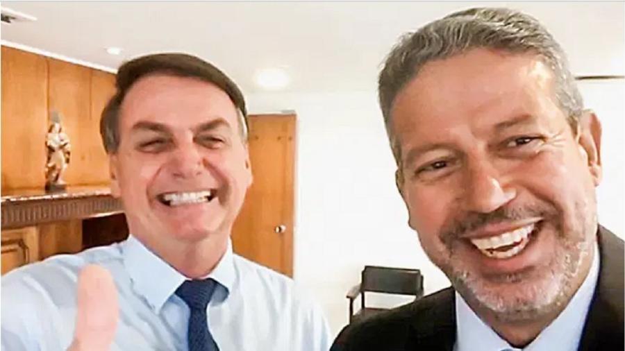 Jair Bolsonaro com Arthur Lira  - Reprodução