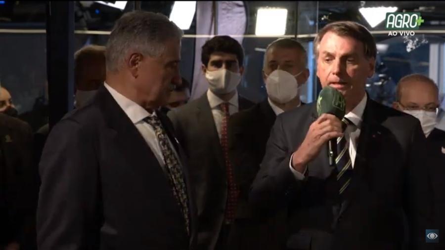 O presidente Jair Bolsonaro (sem partido) participa da estreia do canal AgroMais, do grupo Bandeirantes - Reprodução/YouTube