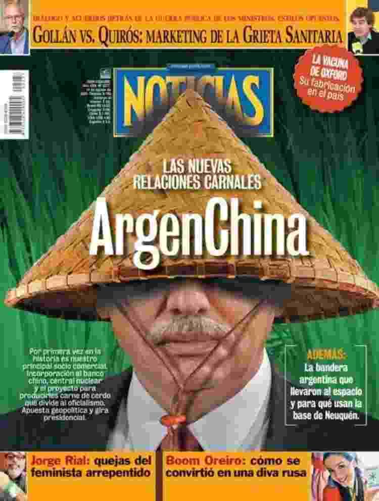 Capa da revista Noticias fala sobre aproximação de China e Argentina - Noticias - Noticias