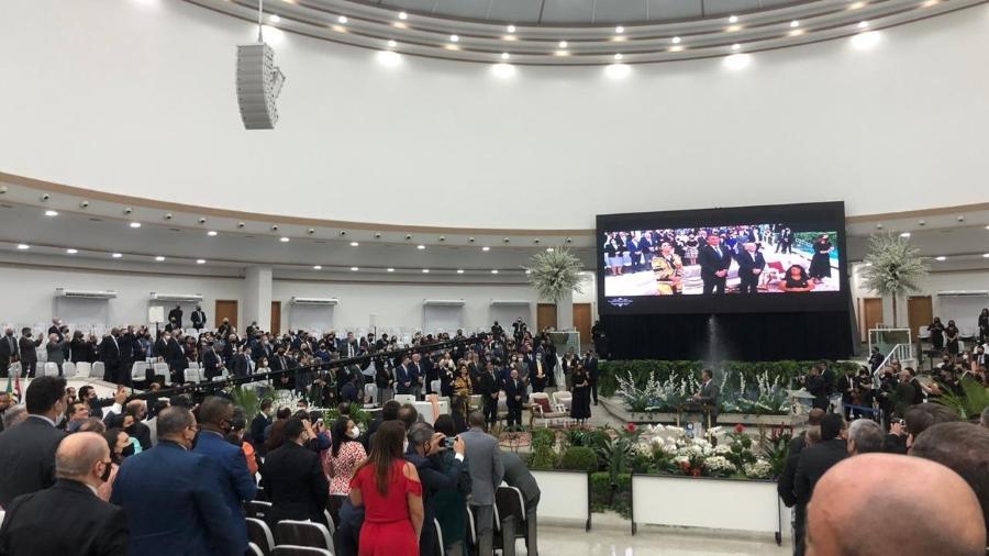 O presidente Jair Bolsonaro na sede da Assembleia de Deus - Lucas Borges Teixeira/UOL
