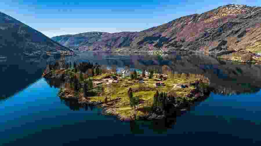 Ilha vendida na Noruega por R$ 18 milhões tem nove hectares - Divulgação/Vladi Private Islands