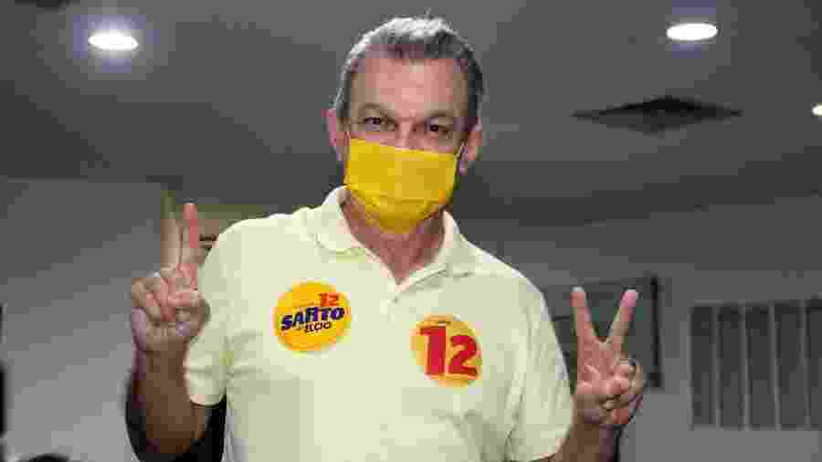 15.nov.2020 - José Sarto Nogueira (PDT), candidato à prefeitura de Fortaleza (CE), no primeiro turno das eleições - XANDY RODRIGUES/FUTURA PRESS/ESTADÃO CONTEÚDO