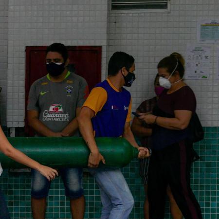 Manaus viveu crise de abastecimento de oxigênio - Sandro Pereira/Fotoarena/Estadão Conteúdo