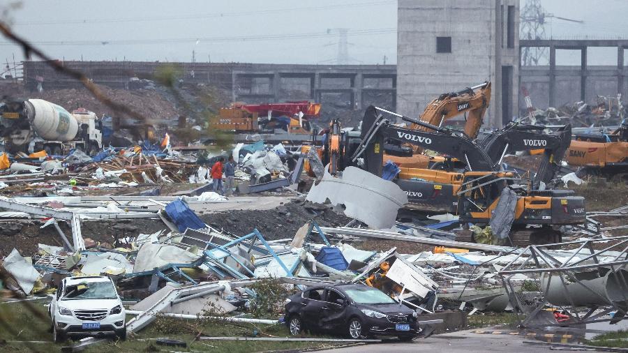 Tornado atingiu a região de Wuhan, na China - AFP