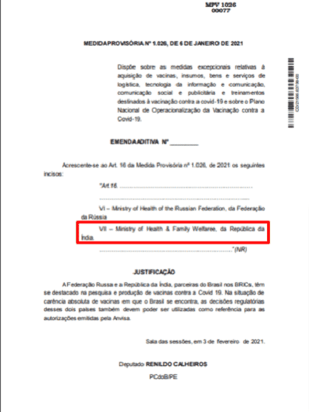 Emenda 3 - Projeto Comprova - Projeto Comprova - Projeto Comprova