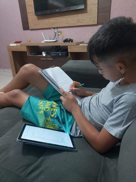 No bairro Pedreira, onde mora João e suas irmãs, não há sinal do chip enviado pela Prefeitura para usar no tablet - Arquivo pessoal - Arquivo pessoal
