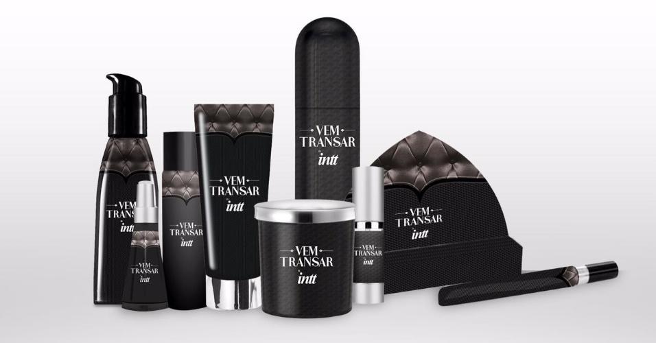 Vem Transar, linha de produtos eróticos da fabricante Intt em parceria com o casal Nizo Neto, filho de Chico Anysio, e a sexóloga Tatiana Presser