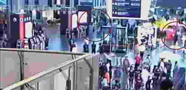 camera de segurança Kim Jong-nam - Fuji TV via Reuters - Fuji TV via Reuters