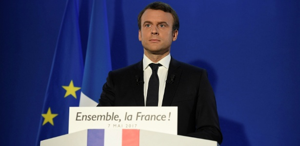 Macron faz primeiro discurso após ser eleito